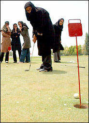 Playing golf with Hijaab