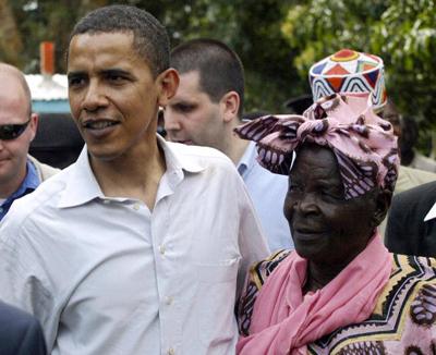 Barack Obama and his Dadima Sarah Obama from Kogelo