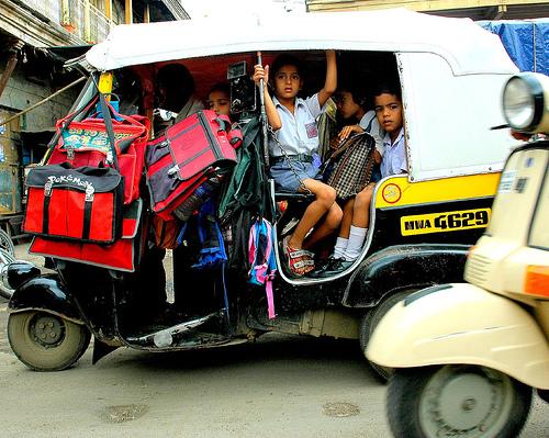 In one rickshaw ride we were 10 passengers