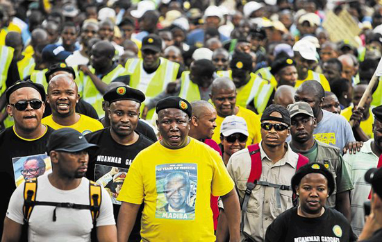 Malema March – ANCYL Road Closures