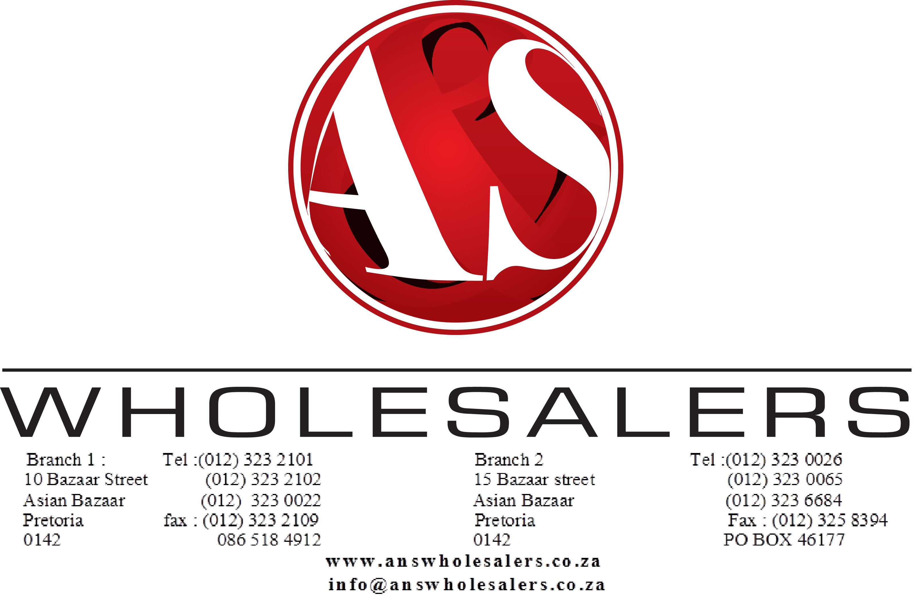 A&S Wholesalers Pretoria