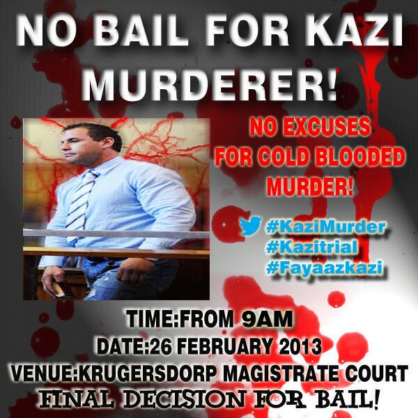 No bail for Fayyaz Kazi Murderer