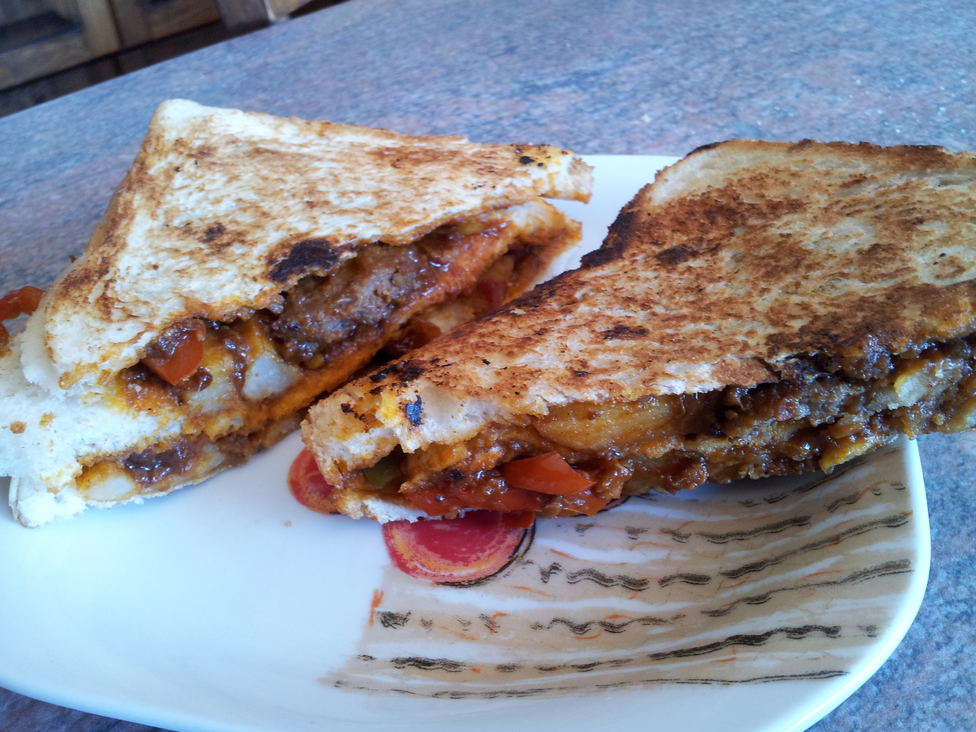Real Nanima – Saucy Toasted steak sandwich