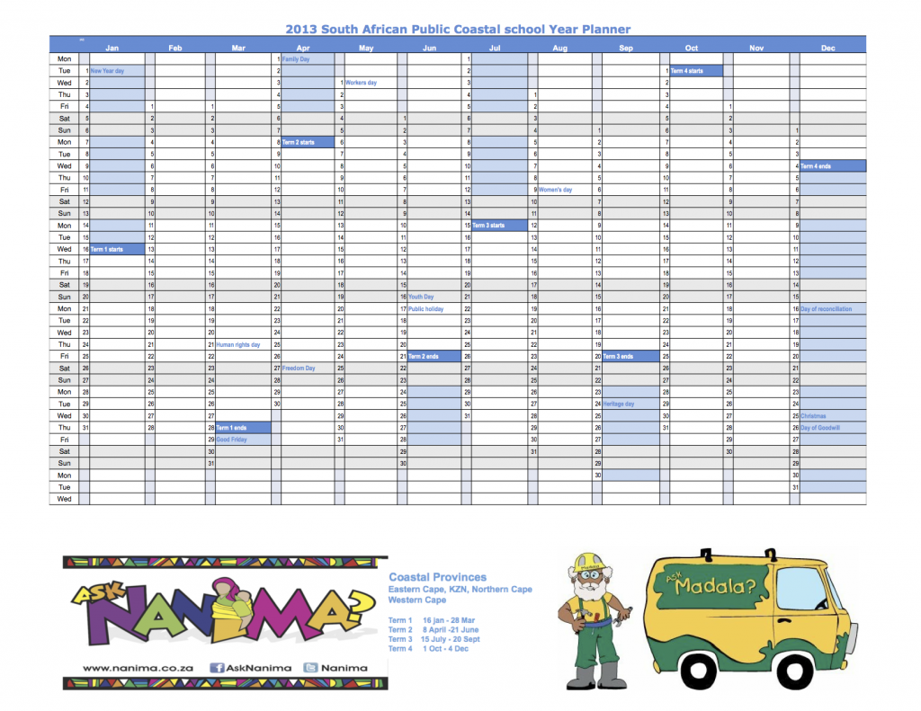 2016 Excel Yearly Staff Holiday Calendar | Calendar Template 2016