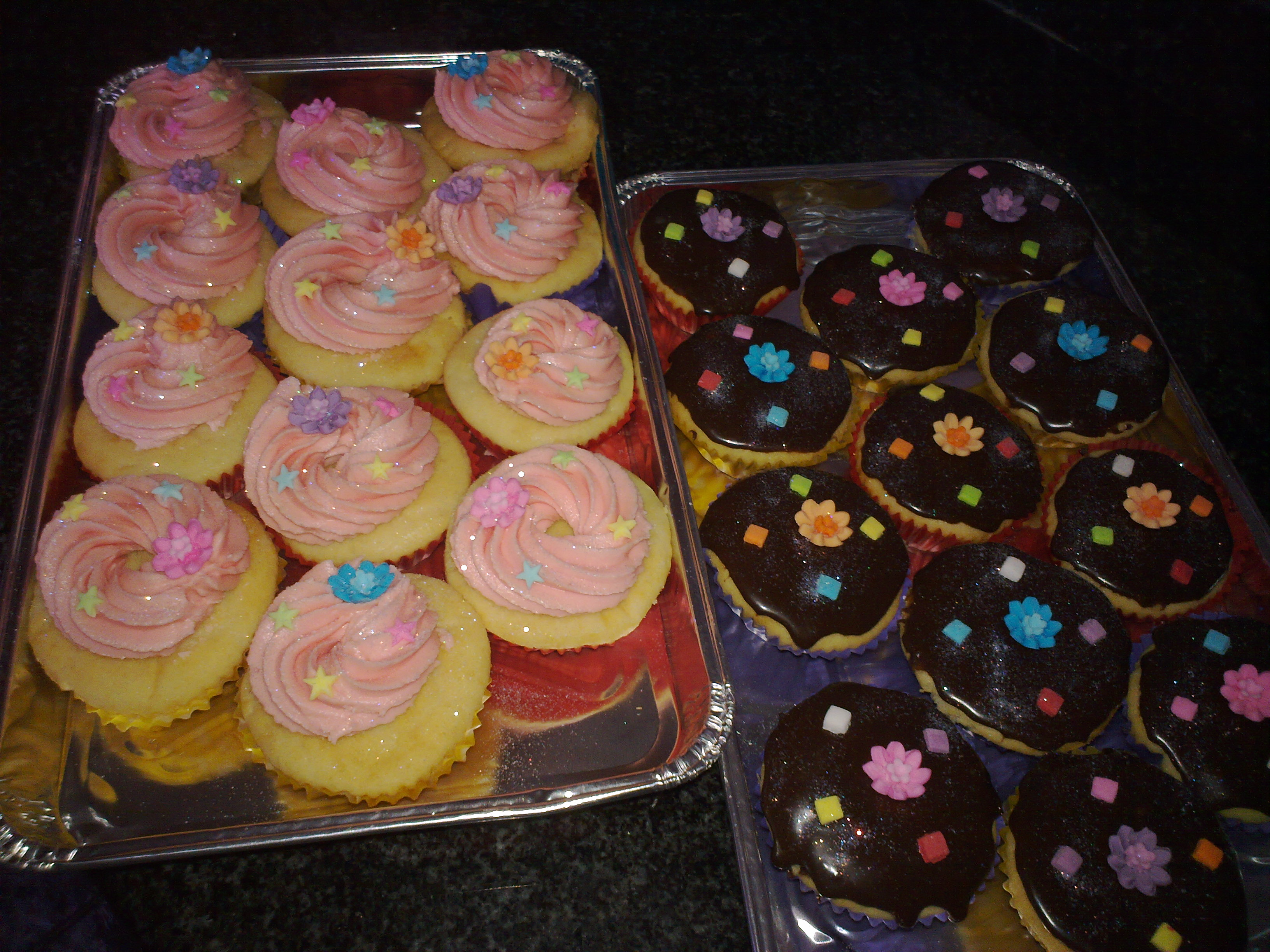 Classique Creations Choc ganache n butter icing cupcakes