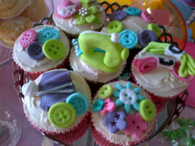 CocaTee ConfecTionery sewing themed cupcakes-Rookaya Surtie