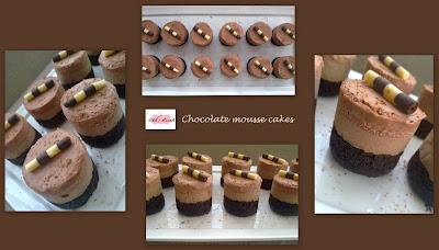 Ice and sliced ayesha Choc mousse cakes