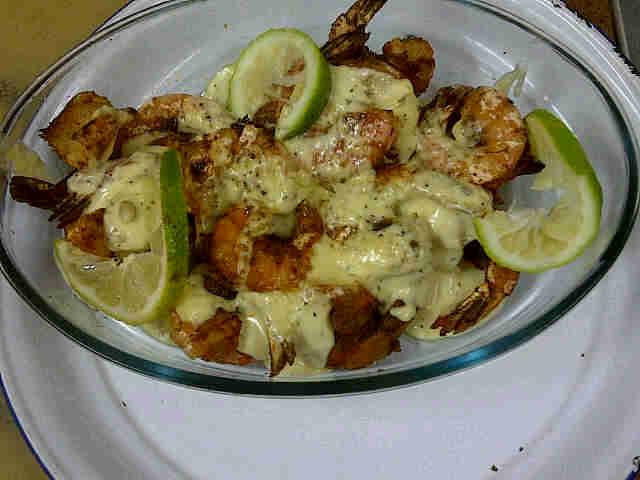 Prawns wif mayo n garlic sauce_p