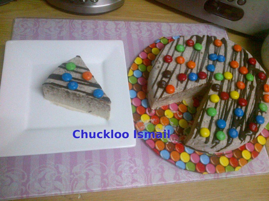 ice cream cake sliced