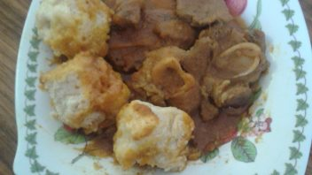 Mutton curry and dumplings by Rashida Padia