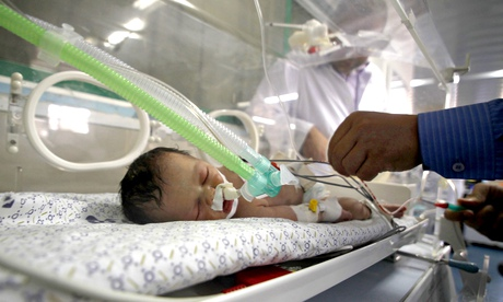 The newborn girl, who is still in an incubator, was named Shayma Shiekh al-Eid