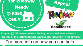 Widow and Needy Ramadan hampers 2017 – 1  Can