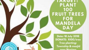 100 trees for Mandela day