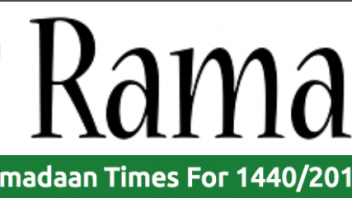 2019 Ramadan 1440 South Africa Ramadan timetables